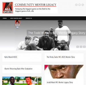 Tyrone Keys' new website for All Sports Mentor Legacy built by our student Kenny