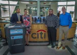 L-R  Ralph Smith (CMG), Kristen Laramore (Citi), Jeremy Shirley (Citi), and Jim Lawler (Quicksilver)